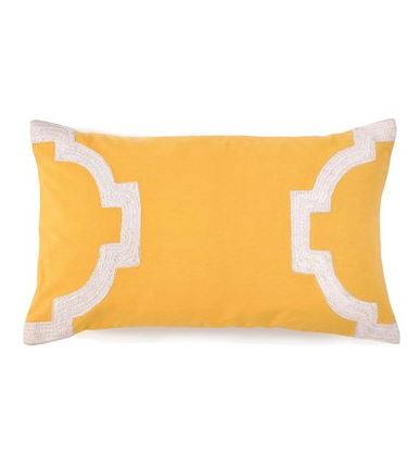 PRETTY CUSHION: Jill Rosenwald 'Hampton Links' yellow pillow