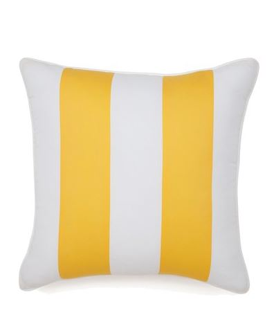 PRETTY CUSHIONS: Jill Rosenwald 'Hampton Links' Yellow and White Stripe Pillow