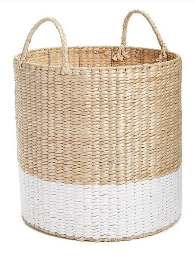 PRETTY STORAGE SOLUTIONS: Levtex straw basket