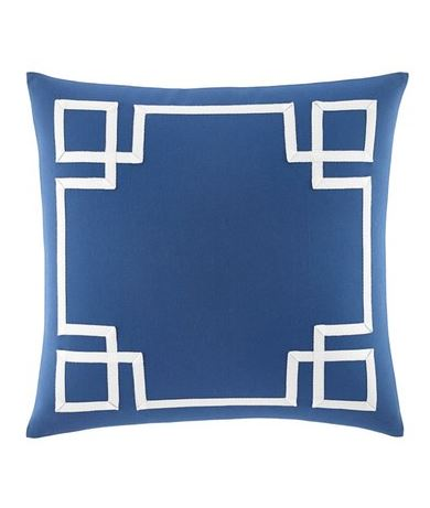 SOPHISTICATED PILLOW DESIGN: Nautica 'Fretwork' pillow