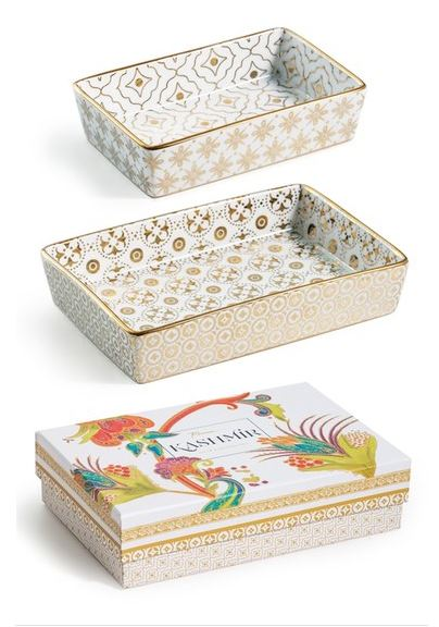 PRETTY STORAGE FOR ACCESSORIES: Rosanna 'Kashmir' nesting catchall trays (set of 2)