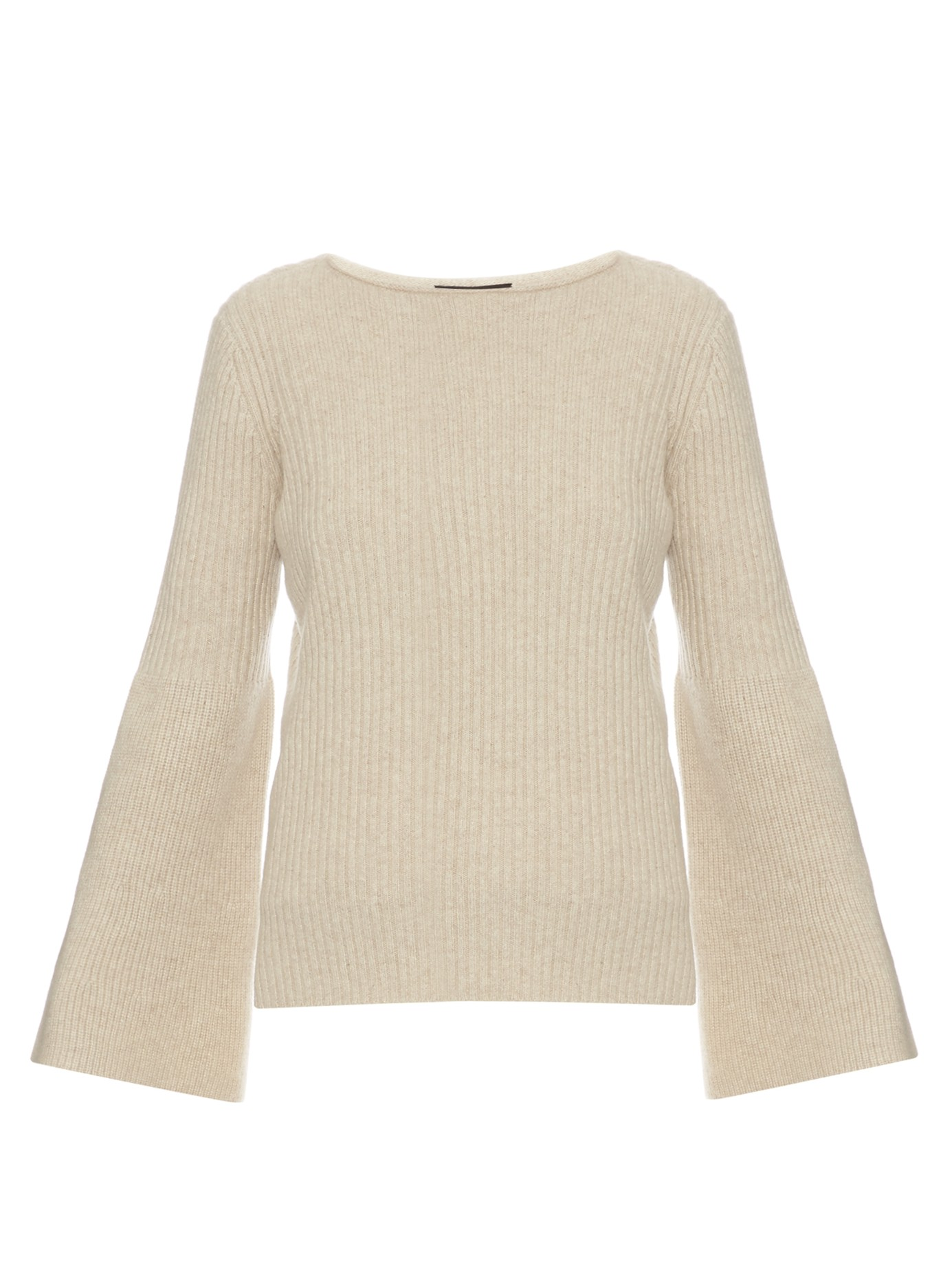 CASUAL CHIC: THE ROW Atilia long-sleeved ribbed knit sweater
