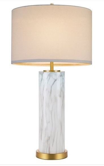 ELEGANT BEDROOM DESIGNS: Cupcakes and Cashmere marble column table lamp