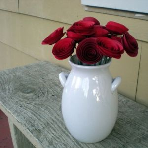 Images of vases - Red Paper Flowers Bouquet.jpg