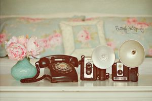Pictures of vases - vintage items including phone and vase.jpg