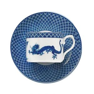 Blue and white photos - Blue Dragon Tea Cup and Saucer by Mottahedeh.jpg