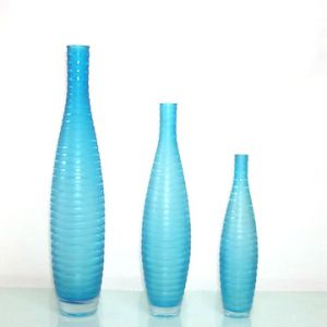 Blue and white pictures - three blue Glass_Vases.jpg