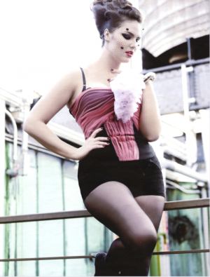 Designer clothes for larger girls -  luscious plus sized model via Runway Revolution.png