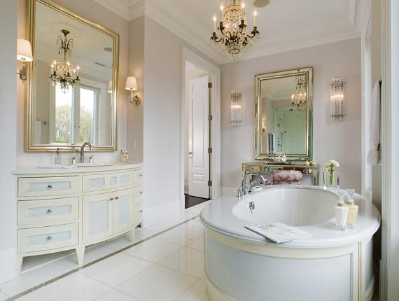 Luscious style boudoirs walk in wardrobes closets for Bathroom and dressing room design