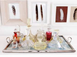 Shoe closet inspiration - Boudoir tray of perfume bottles2.jpg