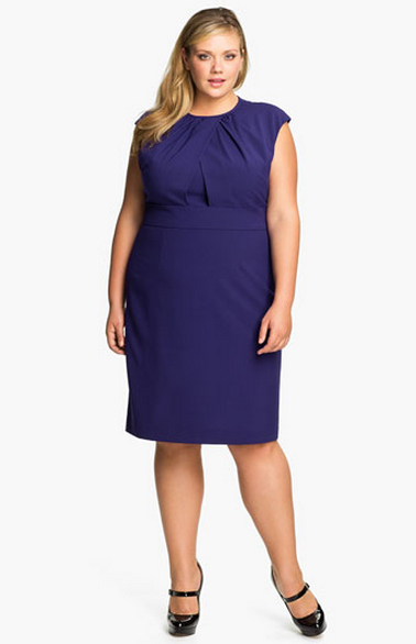 8739e9322d73e ... Calvin Klein Cap Sleeve Sheath Dress - Plus size ...