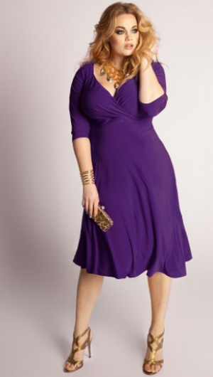 IGIGI Francesca Plus Size Dress in Amethyst