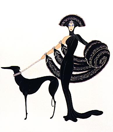 Art deco fashion illustration images for Art deco illustration