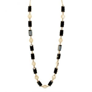 Kate Spade New York - Hot Chip Long Necklace Cream Black - Jewelry.jpg