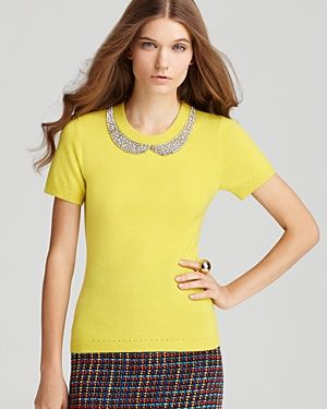 kate spade new york Tippy Sweater - yellow bling collar.jpg