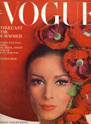 Vintage Vogue magazine covers - mylusciouslife.com - Vintage Vogue April 1965 - Wilhemina.jpg