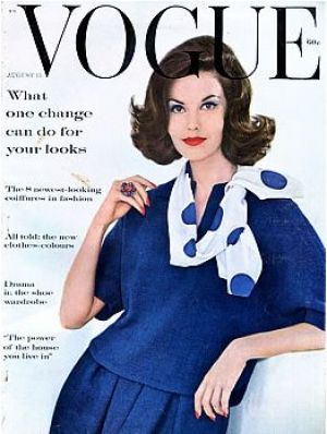 Vintage Vogue magazine covers - wah4mi0ae4yauslife.com - Vintage Vogue August 1960.jpg