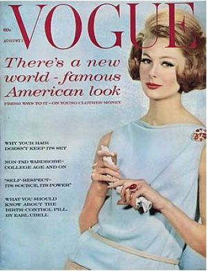 Vintage Vogue magazine covers - mylusciouslife.com - Vintage Vogue August 1961.jpg