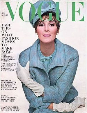 Vintage Vogue magazine covers - mylusciouslife.com - Vintage Vogue August 1963 - Wilhemina.jpg