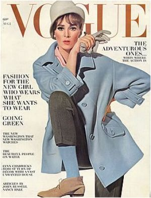 Vintage Vogue magazine covers - mylusciouslife.com - Vintage Vogue August 1963 - Wilhemina2.jpg