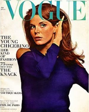 Vintage Vogue magazine covers - mylusciouslife.com - Vintage Vogue August 1965 - Samantha Eggar.jpg