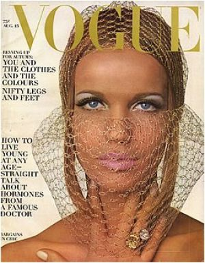 Vintage Vogue magazine covers - mylusciouslife.com - Vintage Vogue August 1965 - Veruschka.jpg