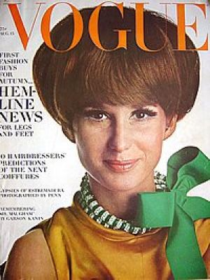 Vintage Vogue magazine covers - mylusciouslife.com - Vintage Vogue August 1966 - Brigitte Bauer.jpg