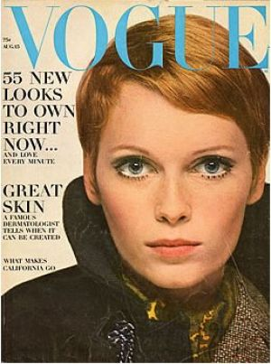 Vintage Vogue magazine covers - mylusciouslife.com - Vintage Vogue August 1967 - Mia Farrow.jpg