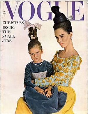Vintage Vogue magazine covers - mylusciouslife.com - Vintage Vogue December 1962 - Sondra Peterson.jpg