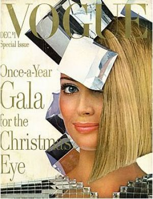 Vintage Vogue magazine covers - mylusciouslife.com - Vintage Vogue December 1966.jpg