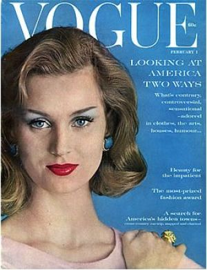Vintage Vogue magazine covers - mylusciouslife.com - Vintage Vogue February 1960.jpg