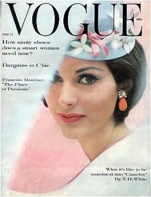 Vintage Vogue magazine covers - mylusciouslife.com - Vintage Vogue February 1961.jpg