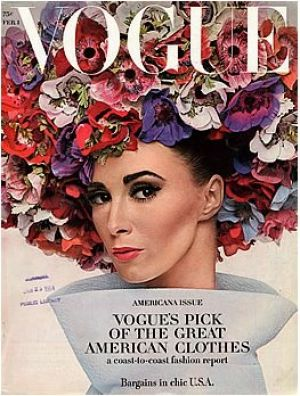 Vintage Vogue magazine covers - mylusciouslife.com - Vintage Vogue February 1964 - Wilhemina.jpg