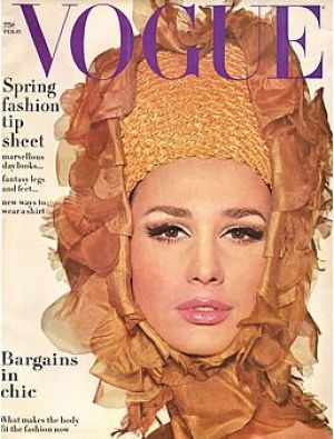 Vintage Vogue magazine covers - mylusciouslife.com - Vintage Vogue February 1965 - Brigitte Bauer.jpg