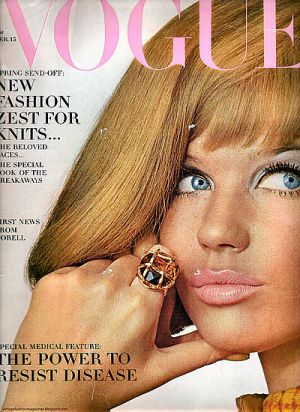 Vintage Vogue magazine covers - mylusciouslife.com - Vintage Vogue February 1966 - Veruschka.jpg