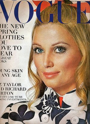 Vintage Vogue magazine covers - mylusciouslife.com - Vintage Vogue February 1969 - Evelyn Kuhn.jpg