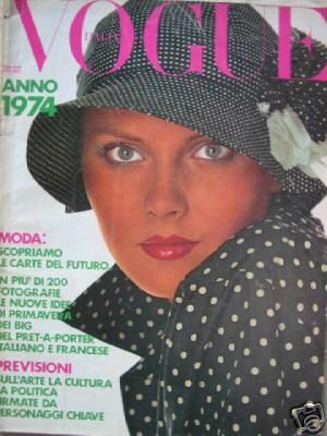 Vintage Vogue magazine covers - mylusciouslife.com - Vintage Vogue Italia January 1964.jpg
