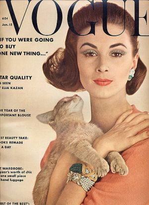 Vintage Vogue magazine covers - mylusciouslife.com - Vintage Vogue January 1962.jpg