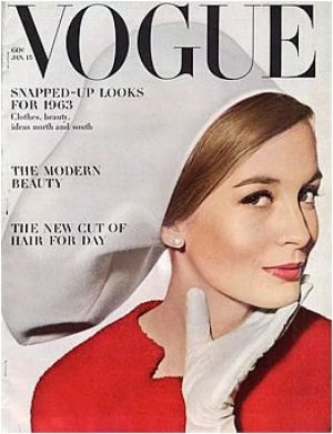 Vintage Vogue magazine covers - mylusciouslife.com - Vintage Vogue January 1963.jpg