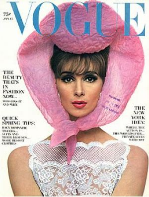 Vintage Vogue magazine covers - mylusciouslife.com - Vintage Vogue January 1964.jpg