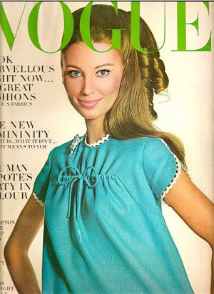 Vintage Vogue magazine covers - mylusciouslife.com - Vintage Vogue January 1967 - Evelyn Kuhn.jpg