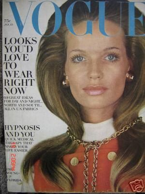 Vintage Vogue magazine covers - mylusciouslife.com - Vintage Vogue January 1969 - Veruschka.jpg