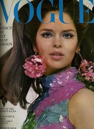 Vintage Vogue magazine covers - mylusciouslife.com - Vintage Vogue July 1966 - Barbara Bach.jpg