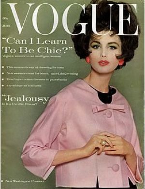 Vintage Vogue magazine covers - mylusciouslife.com - Vintage Vogue June 1961.jpg