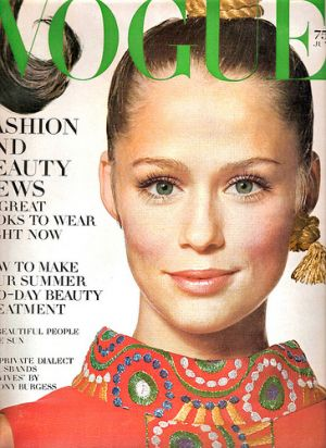 Vintage Vogue magazine covers - mylusciouslife.com - Vintage Vogue June 1968 - Lauren Hutton.jpg