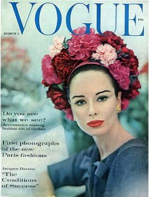Vintage Vogue magazine covers - mylusciouslife.com - Vintage Vogue March 1960.jpg