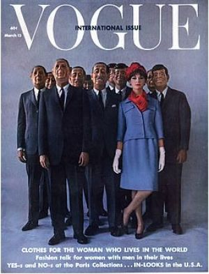 Vintage Vogue magazine covers - mylusciouslife.com - Vintage Vogue March 1962 - International Issue.jpg