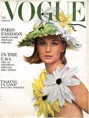 Vintage Vogue magazine covers - wah4mi0ae4yauslife.com - Vintage Vogue March 1964.jpg