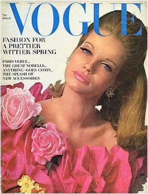Vintage Vogue magazine covers - mylusciouslife.com - Vintage Vogue March 1965 - Veruschka.jpg