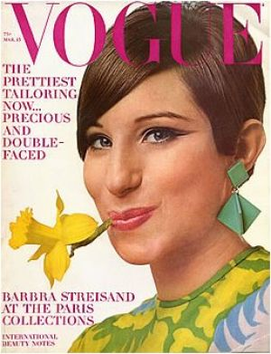 Vintage Vogue magazine covers - mylusciouslife.com - Vintage Vogue March 1966 - Barbara Streisand.jpg
